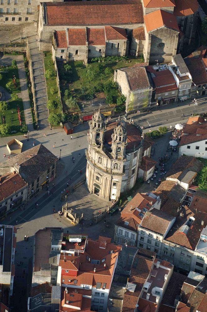 Vista aérea capilla de la Virgen Peregrina