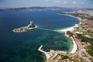 Vista aérea isla de Toralla